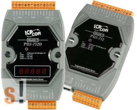 PDS-752D # Soros/Ethernet/Konverter/Programozható/1x RS-485/4x RS-232 port/Ethernet 10/100/LED, ICPDAS