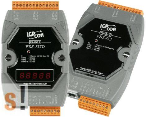 PDS-755D # Soros/Ethernet/Konverter/Programozható/4x RS-485/1x RS-232 port/Ethernet 10/100/LED, ICPDAS