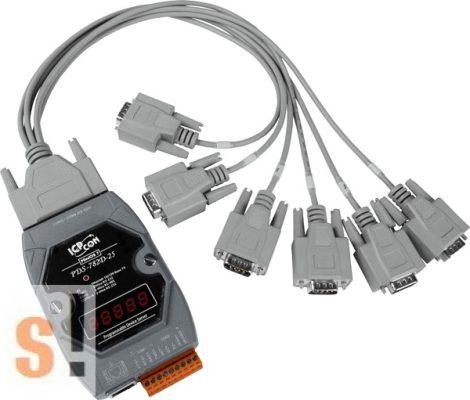 PDS-782D-25/D6 # Soros/Ethernet/Konverter/Programozható/1x RS-485/7x RS-232 port/Ethernet 10/100/D-SUB csatlakozók/LED, ICPDAS