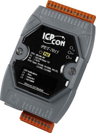 PET-7015 # PoE Ethernet I/O Module/Modbus TCP/7AI/RTD, ICP DAS