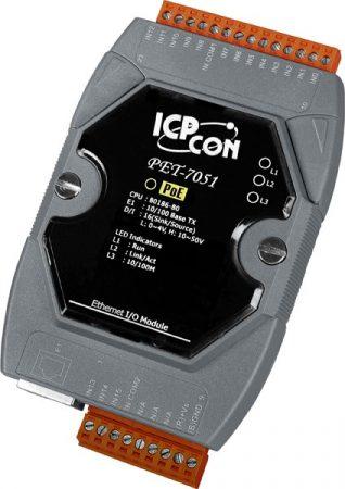 PET-7051 # PoE Ethernet I/O Module/Modbus TCP/16DI, ICP DAS
