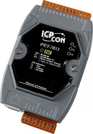 PET-7053 # PoE Ethernet I/O Module/Modbus TCP/16 DI, ICP DAS
