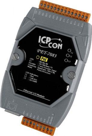 PET-7083 # PoE Ethernet I/O Module/Modbus TCP/3-axis Encoder, ICP DAS