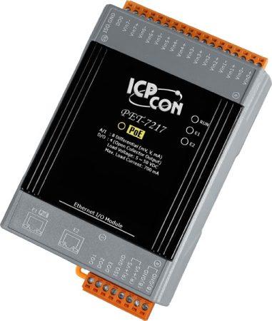 PET-7217 # PoE Ethernet I/O Module/Modbus TCP/8AI/4DO/2LAN, ICP DAS