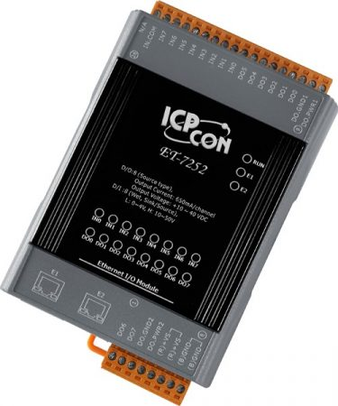 PET-7252 # PoE Ethernet I/O Module/Modbus TCP/8DI/8DO/2LAN, ICP DAS
