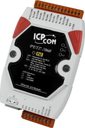 PETL-7060 # POE I/O Module/Modbus TCP/6DI/6 Relay/isol., ICP DAS