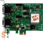 PEX-CAN200i-D # PCI kártya/Express/CAN/2 port/D-sub/szigetelt, ICP DAS