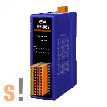 PFN-2055 # PROFINET I/O Module/8DI/8DO, szigetelt, ICP DAS