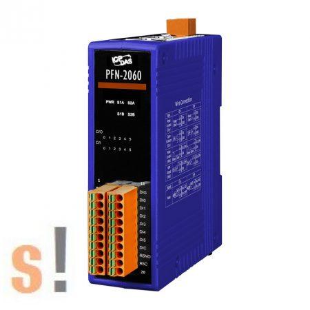 PFN-2060 # PROFINET I/O Module/6DI/6RO, relé kimenet, szigetelt, ICP DAS