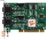 PISO-CAN200U-D # PCI kártya/Universal/CAN/2 port/D-sub/szigetelt, ICP DAS