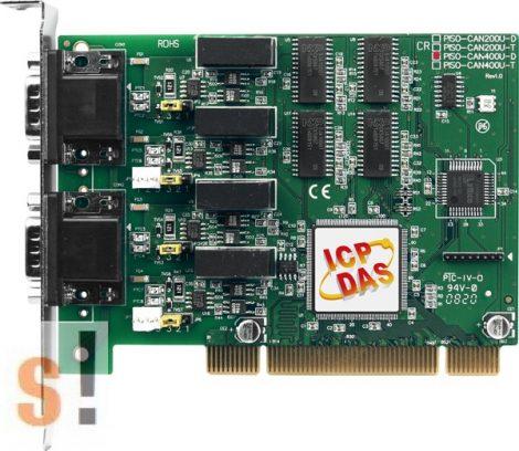 PISO-CAN400U-D # PCI kártya/Universal/CAN/4 port/D-sub/szigetelt/ ICP DAS