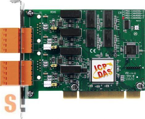 PISO-CAN400U-T # PCI kártya/Universal/CAN/4 port/sorkapocs/szigetelt/ ICP DAS