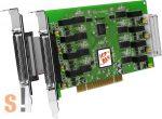 PISO-CAN800U-D # PCI kártya/Universal/CAN/8 port/D-sub/szigetelt, ICP DAS