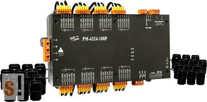 PM-4324-160P # Fogyasztásmérő/Power Meter/Modbus RTU/RS-485/8x három fázis vagy 24x egy fázis/ 100A áramváltó, ICP DAS