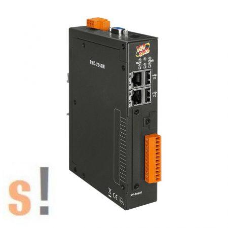 PMC-2241M CR # IoT Power Concentrator/MQTT/Fém ház/2x GbE/3x COM port/1x RS-232 port/2x RS-485 port/Modbus TCP/RTU/SNMP/FTP/MQTT/Microsoft Azure, IBM Bluemix, ICP DAS IoStar támogatás/ ICP CON/ICP DAS