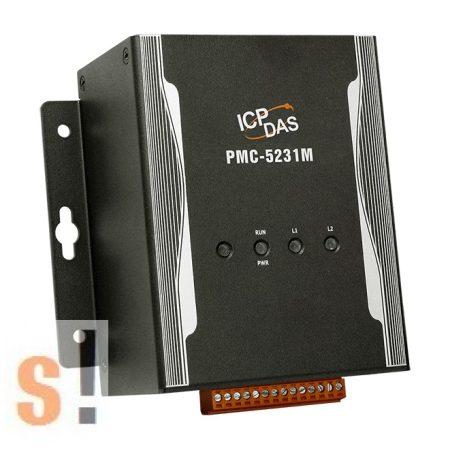 PMC-5231M # IoT fogyasztás mérés/ Power Concentrator/Fém ház/ModbusTCP/RTU/1x GbE/1x RS-232 port/2x RS-485 port/USB port/SNMP/MQTT/Microsoft Azure és IBM Bluemix támogatás/ICP CON, ICP DAS