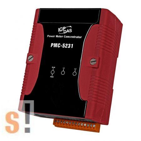 PMC-5231 # IoT fogyasztás mérés/ Power Concentrator/ModbusTCP/RTU/2x GbE/2x RS-232 port/2x RS-485 port/USB port/SNMP/MQTT/Microsoft Azure és IBM Bluemix támogatás/ICP CON, ICP DAS