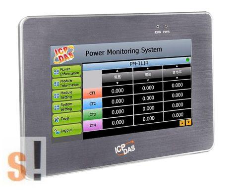 """PMD-2201-EN CR # IoT Energia felhasználás/ fogyasztás mérés/Power Meter Concentrator/7"""" LCD kijelző/1 GbE port/2x USB port/2x COM port/Modbus TCP/RTU/SNMP/MQTT/ICP CON/ICP DAS"""