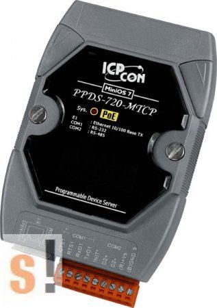 PPDS-720-MTCP # Soros/Ethernet/Konverter/ModbusTCP/RTU/Programozható/1x RS-232/1x RS-485/Ethernet/10/100, ICP DAS