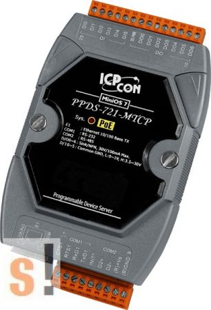 PPDS-721-MTCP # Soros/Ethernet/Konverter/Modbus/Átjáró/Programozható/1x RS-232/1x RS-485/Ethernet/10/100/6x DI/7x DO, ICP DAS