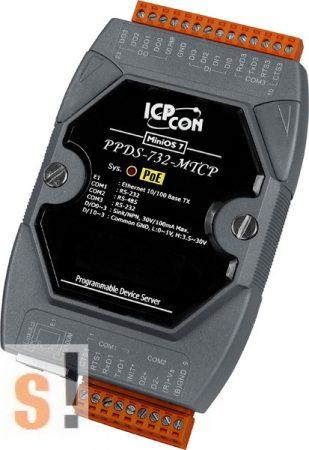 PPDS-732-MTCP # Soros/PoE-Ethernet/Konverter/Modbus/Átjáró/Programozható/1x-RS-485/2x-RS-232-port/Ethernet-10/100/4x DI/4x DO/-ICPDAS