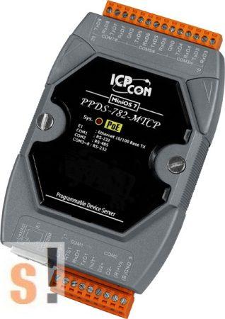 PPDS-782-MTCP # Soros/PoE Ethernet/Konverter/Modbus/Átjáró/Programozható/1x RS-485/7x RS-232 port/Ethernet 10/100, ICPDAS