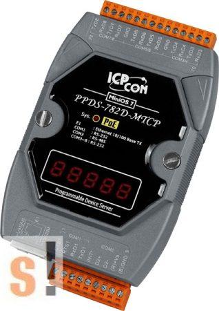 PPDS-782D-MTCP # Soros/PoE Ethernet/Konverter/Modbus/Átjáró/Programozható/1x RS-485/7x RS-232 port/Ethernet 10/100/LED, ICPDAS