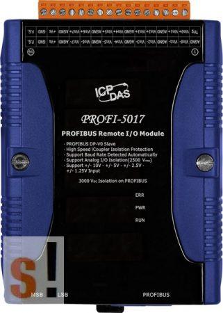 PROFI-5017 # PROFIBUS I/O Modul/DP-V0/Slave/8AI/Feszültség, ICP DAS