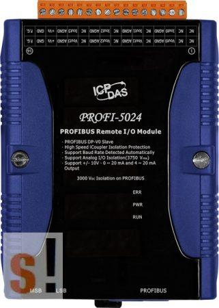 PROFI-5024 # PROFIBUS I/O Modul/DP-V0/Slave/4AO/szigetelt, ICP DAS