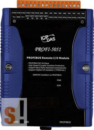 PROFI-5051 CR # PROFIBUS I/O Modul/DP-V0/Slave/24DI/szigetelt, ICP DAS