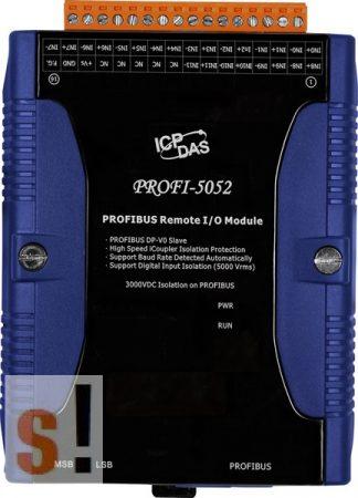 PROFI-5052 # PROFIBUS I/O Modul/DP-V0/Slave/12DI/szigetelt, ICP DAS