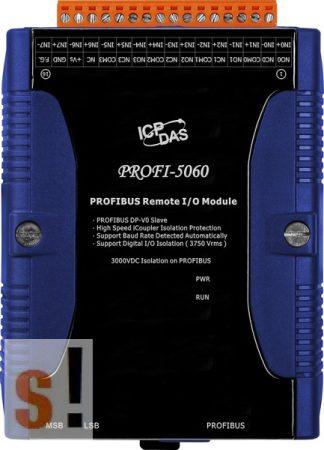 PROFI-5060 # PROFIBUS I/O Modul/DP-V0/Slave/8DI/4 relé kimenet, ICP DAS