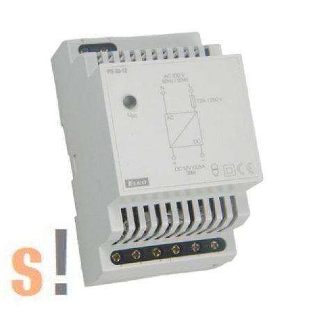 PS-30-12 # Stabilizált tápegység/DIN sínre/12VDC/2,5A/30W, ELKO EP