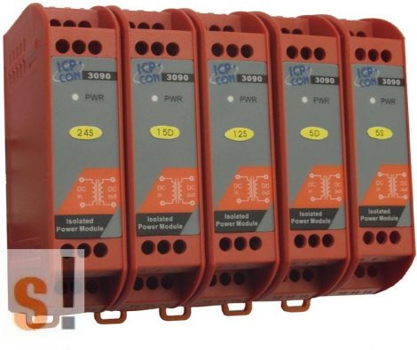 PW-3090-12S-R # Táp modul/szigetelt/DC-DC konverter/+-12V kimenet/800mA, ICP DAS
