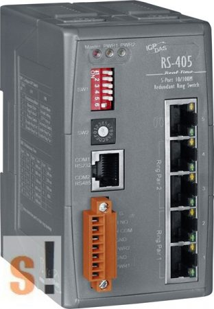RS-405  # 5 portos Real-time redundáns Ring switch , 10/100, ICP DAS