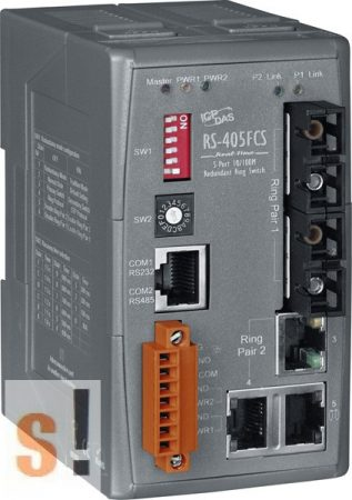 RS-405FCS # Switch/Ethernet/Redundáns/5 port/2 Fiber/Single/SC, ICP DAS