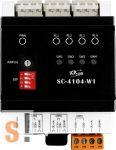 SC-4104-W1 # Világítás vezérlő modul/Modbus RTU/1x DI/4x DO relé, ICP DAS