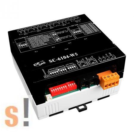 SC-6104-W5 # Világítás vezérlő modul/Modbus RTU/1x DI/4x DO relé, ICP DAS