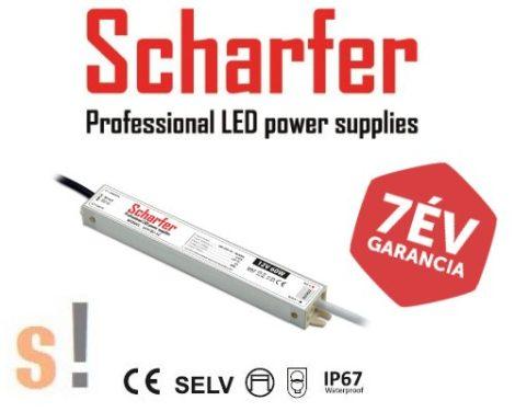 SCH-100-12 # SCHARFER 12Vdc/100W vízálló IP67 védettségű LED tápegység/ 12Vdc/8,33A/100W/ aluminium ház