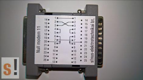 SENM11 # Null modem adapter/DB25 papa-mama