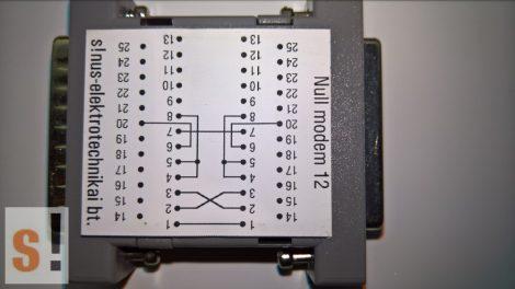 SENM12 # Null modem adapter/DB25 papa-mama