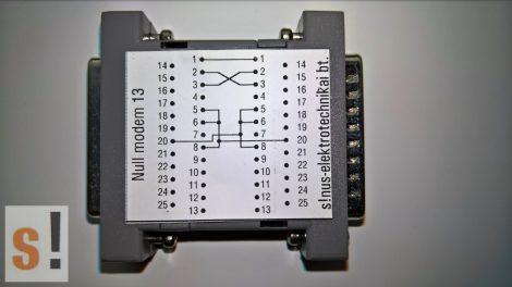 SENM13 # Null modem adapter/DB25 papa-mama