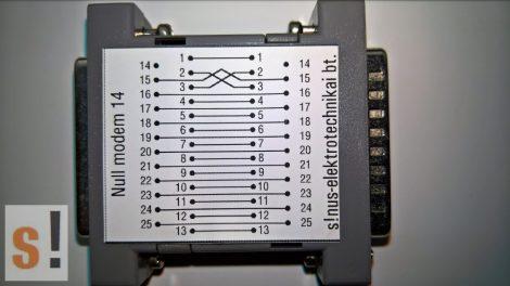 SENM14 # Null modem adapter/DB25 papa-mama