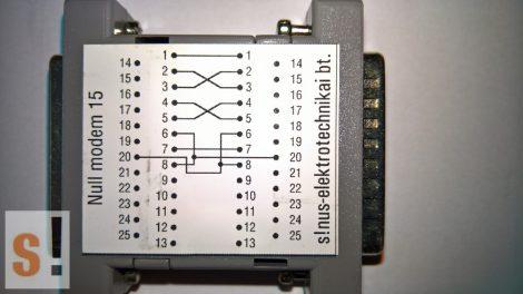 SENM15 # Null modem adapter/DB25 papa-mama