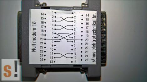 SENM18 # Null modem adapter/DB25 papa-mama