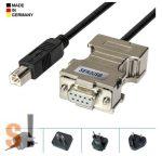 SER2USB # USB - RS-232 soros printer szerver/USB-B csatlakozó/DB9 mama csatlakozó, AK-Nord