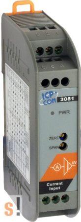SG-3081 # Jelkondícionáló/Be/Ki modul/DC áram/1x AI/1x AO/szigetelt, ICP DAS