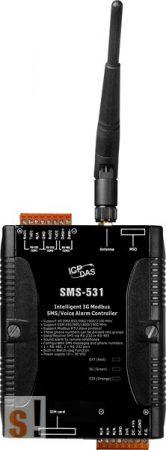 SMS-531 # Intelligens 3G/GSM/WCDMA/Modbus RTU/SMS/Voice Alarm Controller/2x RS-232/1x RS-485, ICP DAS