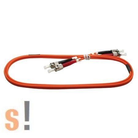 ST-ST-30M # Optikai patch kábel/ST-ST csatlakozók/62,5/125um/30 méter/narancs szín