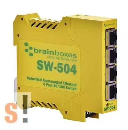 SW-504 # Ethernet switch, 4 port, 10/100 Mbps, DIN sínre